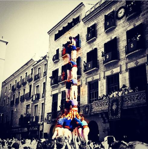 Els Castellers per @aperezcarreras